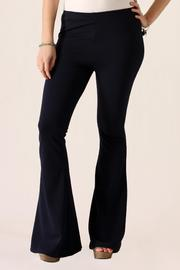 She + Sky Bell Bottom Pants - Front full body