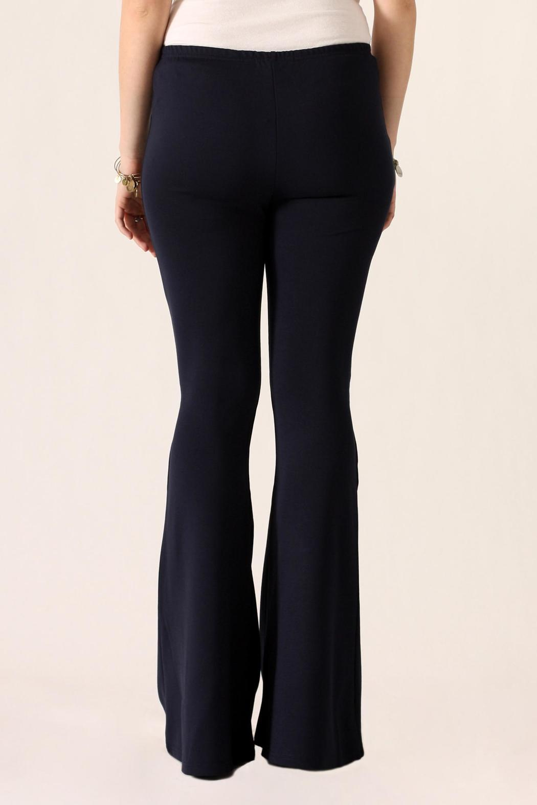 She + Sky Bell Bottom Pants - Back Cropped Image