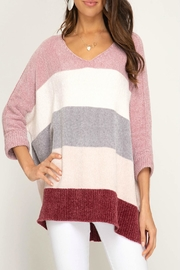 She and Sky Chenille Color-Blocked Sweater - Product Mini Image
