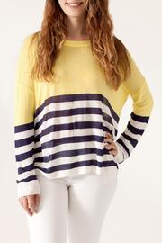 She + Sky Contrast Stripe Sweater - Product Mini Image
