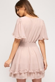 She and Sky Front Tie Crinkled Woven Dress - Other