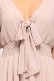 She and Sky Front Tie Crinkled Woven Dress - Side cropped