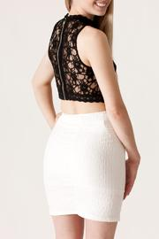She + Sky Lace Crop Top - Back cropped