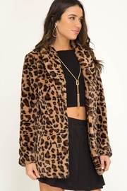 She and Sky Long Sleeve Leopard Fur Jacket - Other