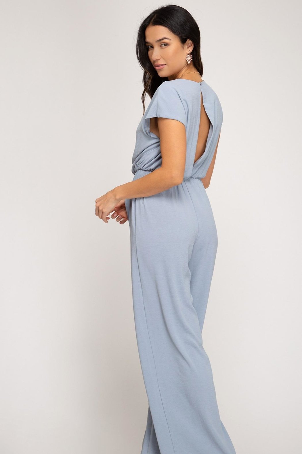 She and Sky Misty Jumpsuit - Front Full Image