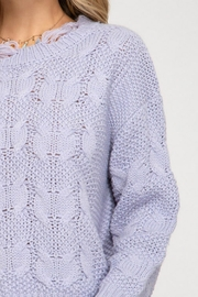 She and Sky Shredded Fisherman Sweater - Side cropped