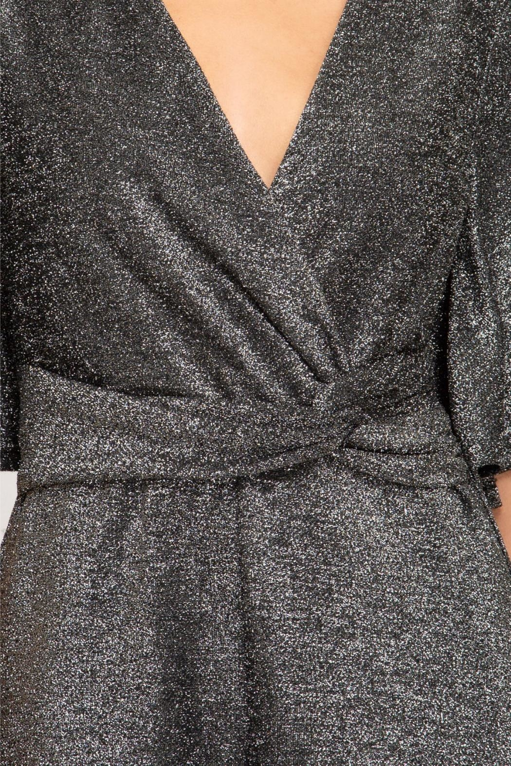 She and Sky Sparkly Romper - Front Full Image
