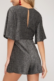 She and Sky Sparkly Romper - Side cropped