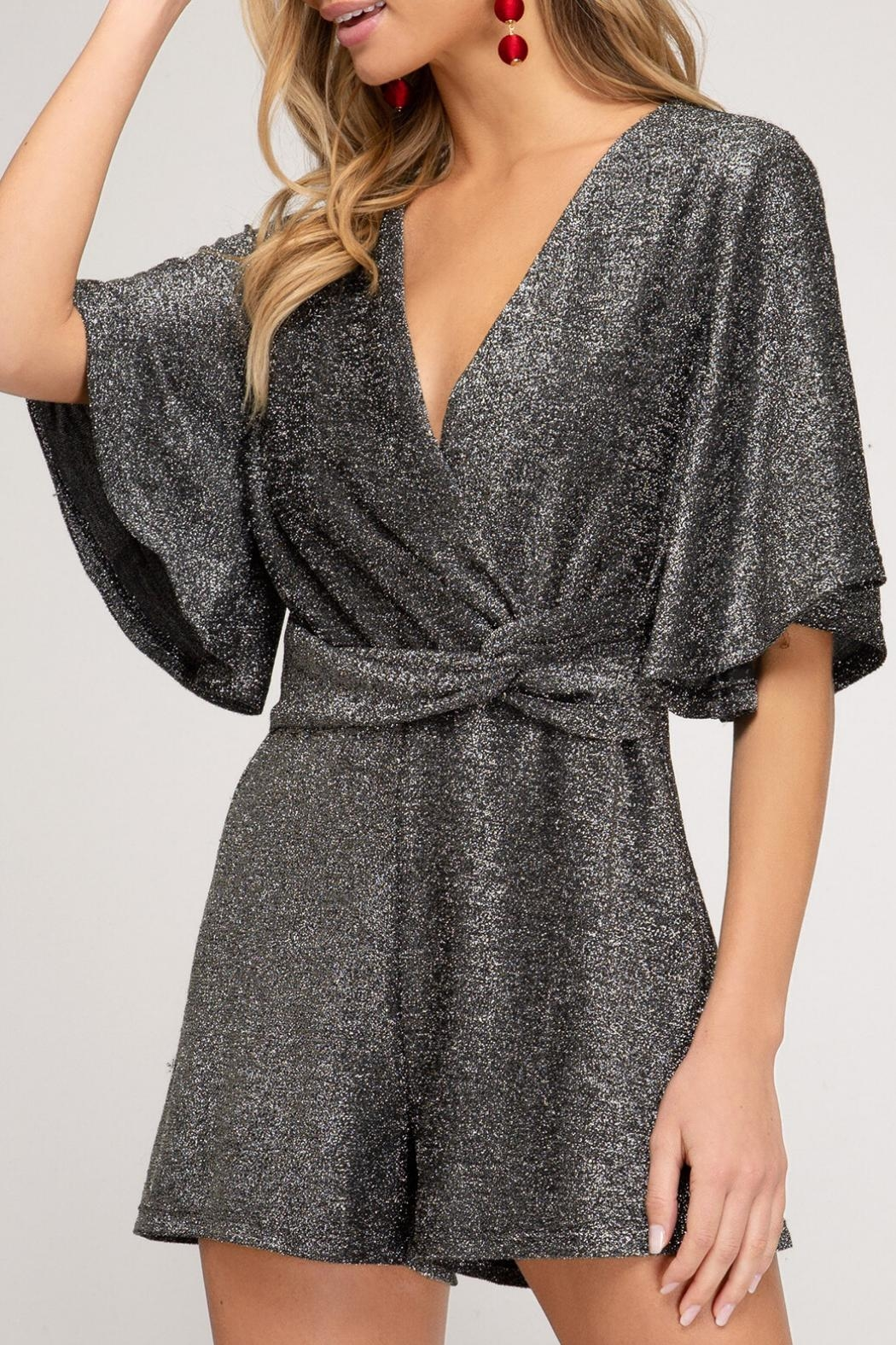 She and Sky Sparkly Romper - Main Image