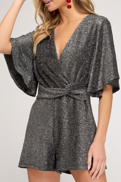 She and Sky Sparkly Romper - Product List Image