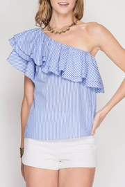 She + Sky Stripe One-Shoulder Top - Product Mini Image