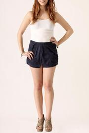 She + Sky Suede Origami Shorts - Product Mini Image