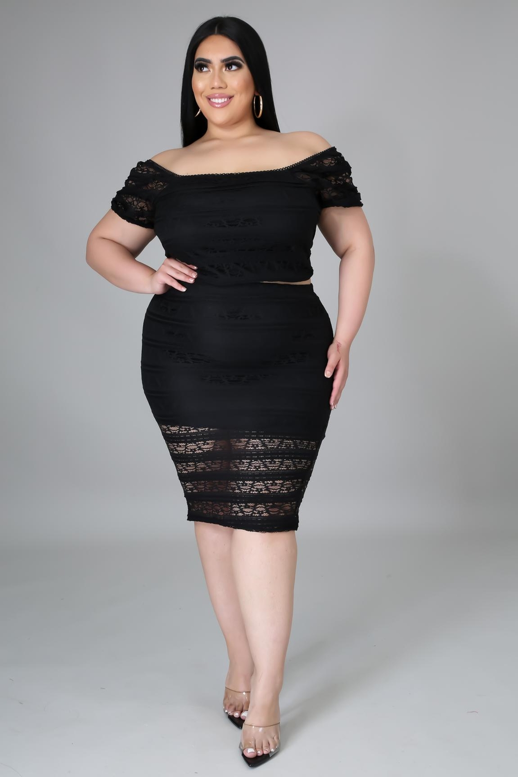 SHE Boutique Can't Deny It Skirt Set - Front Full Image