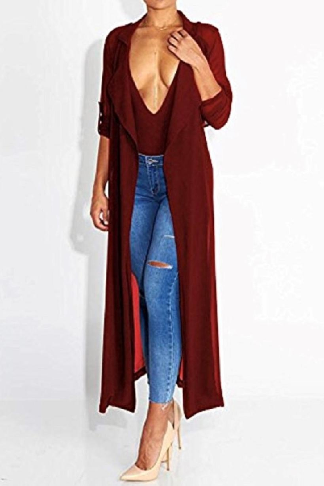SHE Boutique Chiffon Maxi Cardigan from New Jersey — Shoptiques