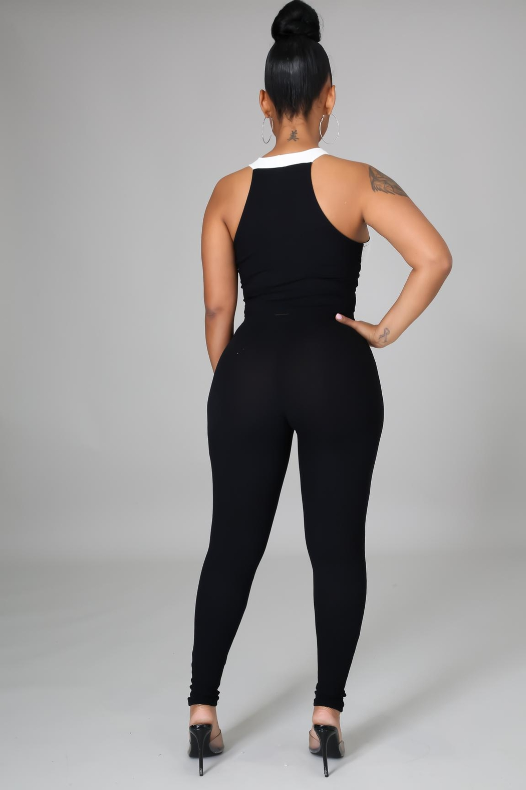 SHE Boutique My Go To Legging Set - Back Cropped Image