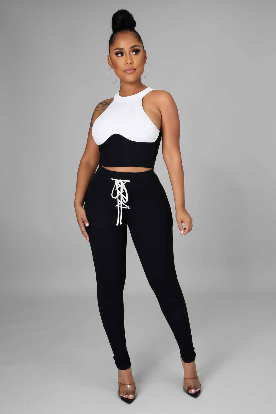 SHE Boutique My Go To Legging Set - Front Full Image