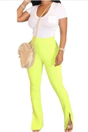 SHE Boutique Neon Yellow High Rise Pants - Product Mini Image