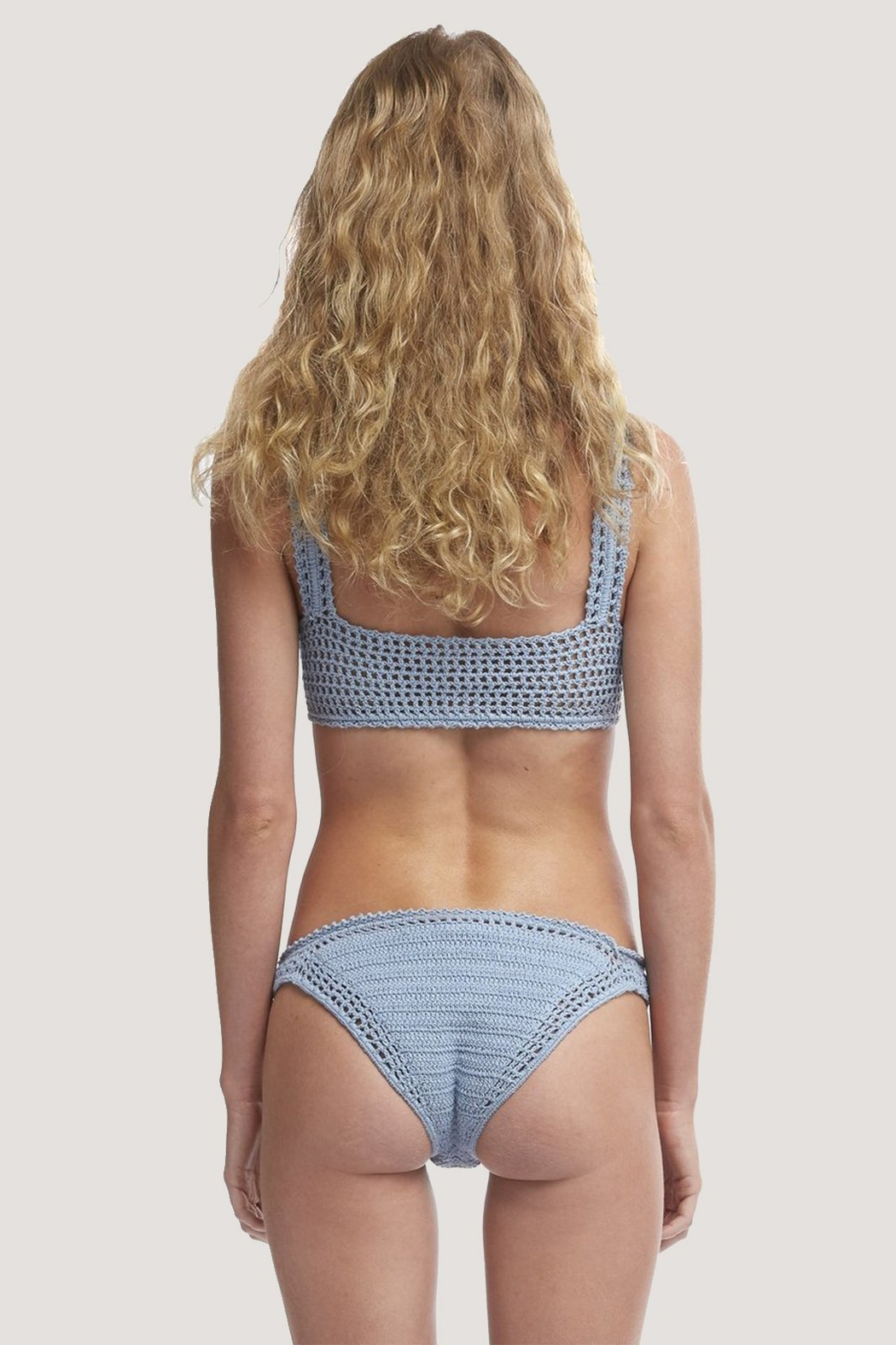 She Made Me Essential Crochet Classic Bottom Ash - Side Cropped Image