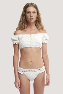 She Made Me Inika Crochet Off-The-Shoulder Top - Product List Image