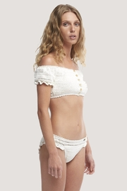 She Made Me Inkia Crochet Off The ShoulderTop - Front full body
