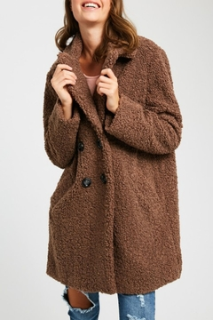 Listicle Shearling Button Down Coat - Alternate List Image