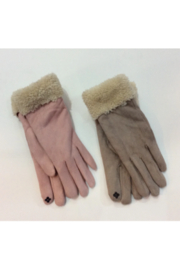 DiJore Shearling cuffed smart finger gloves - Product Mini Image