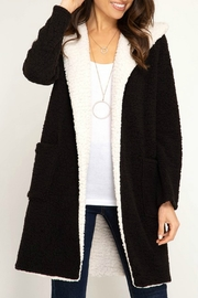 She + Sky Shearling Fleece Coat - Product Mini Image