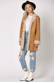 By Together  Shearling Jacket with front pockets - Front cropped