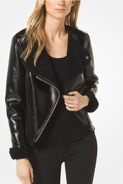 Michael Kors Shearling Moto Jacket - Product Mini Image