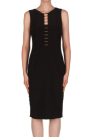 Joseph Ribkoff  Sheath dress with Gold Bars - Front cropped