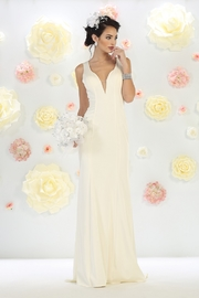May Queen  Sheath Ivory Bridal Gown - Product Mini Image