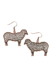 Riah Fashion Sheep-Rhinestone Drop-Earrings - Product Mini Image