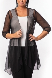Bali Corp. Sheer 3/4 Sleeve Tunic Top - Product Mini Image