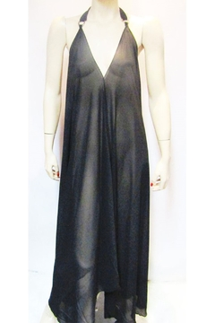 Shoptiques Product: SHEER BLACK HALTER DRESS