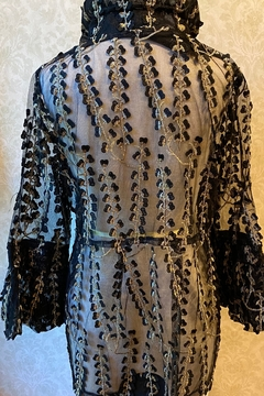 Damee Sheer black Jacket with gold design. - Alternate List Image