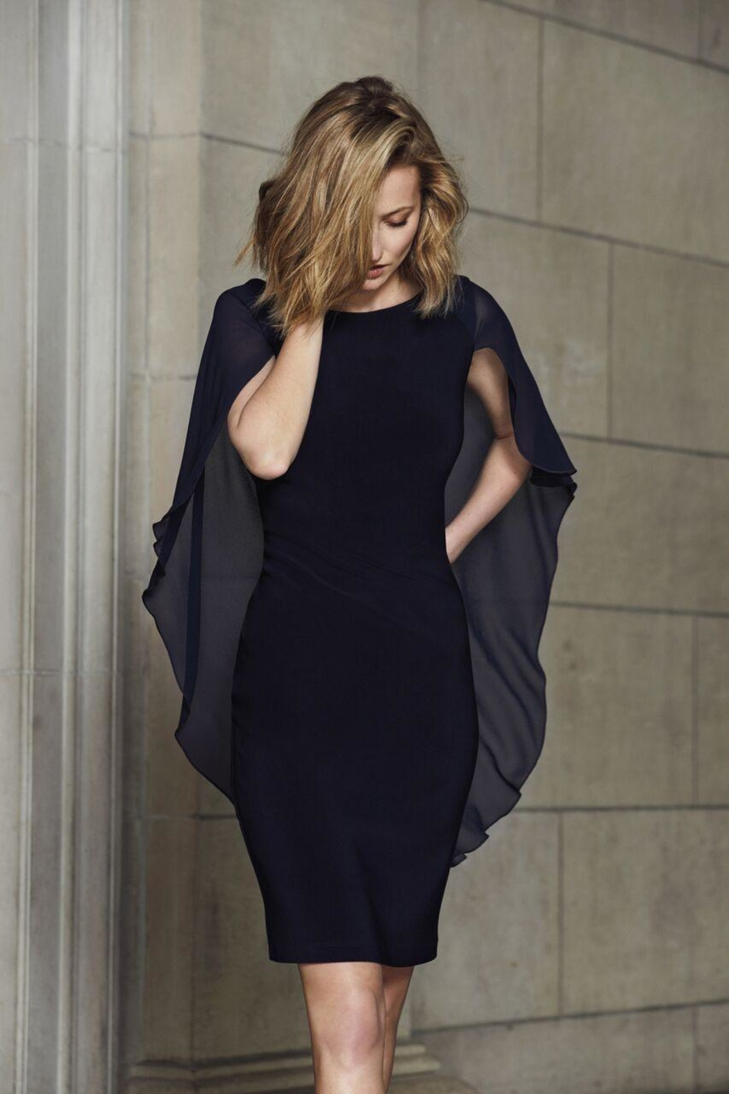 Picadilly Sheer Cape Dress - Main Image