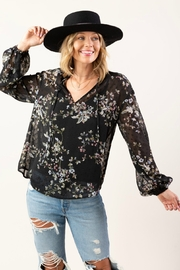Lovestitch  Sheer Clip Blouse - Product Mini Image