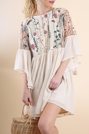 Umgee Sheer Cream Dress - Product Mini Image