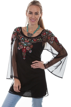Scully Sheer Embroidered Blouse - Product List Image