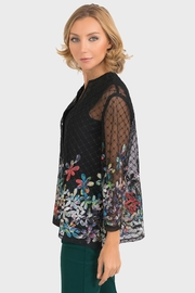 Joseph Ribkoff Sheer Embroidered Jacket - Front full body