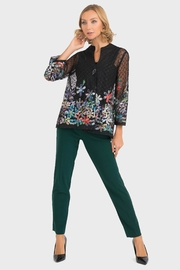Joseph Ribkoff Sheer Embroidered Jacket - Back cropped