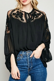 Hayden Los Angeles Sheer Embroidery Tunic - Product Mini Image