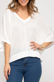 She & Sky  Sheer Essence Top - Front cropped