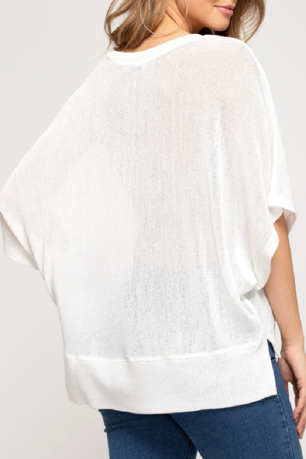 She & Sky  Sheer Essence Top - Front Full Image