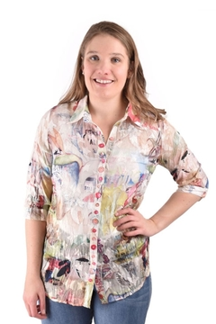 True Blue Clothing Sheer Floral Blouse - Product List Image