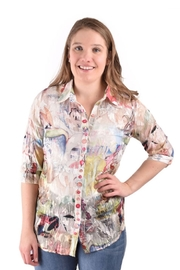 True Blue Clothing Sheer Floral Blouse - Product Mini Image