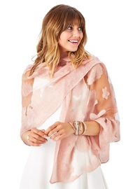 The Birds Nest SHEER FLORAL BROCADE SCARF - Product Mini Image