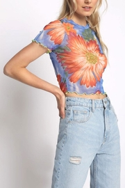 Sans Souci Sheer Floral Crop-Top - Product Mini Image