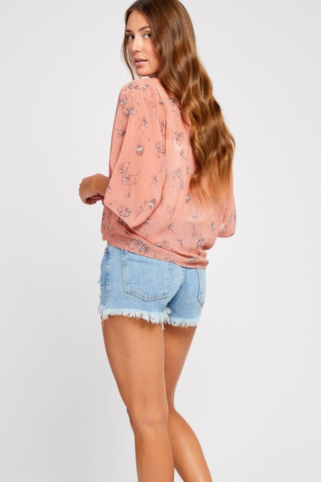 Gentle Fawn Sheer Floral Overpiece - Side Cropped Image