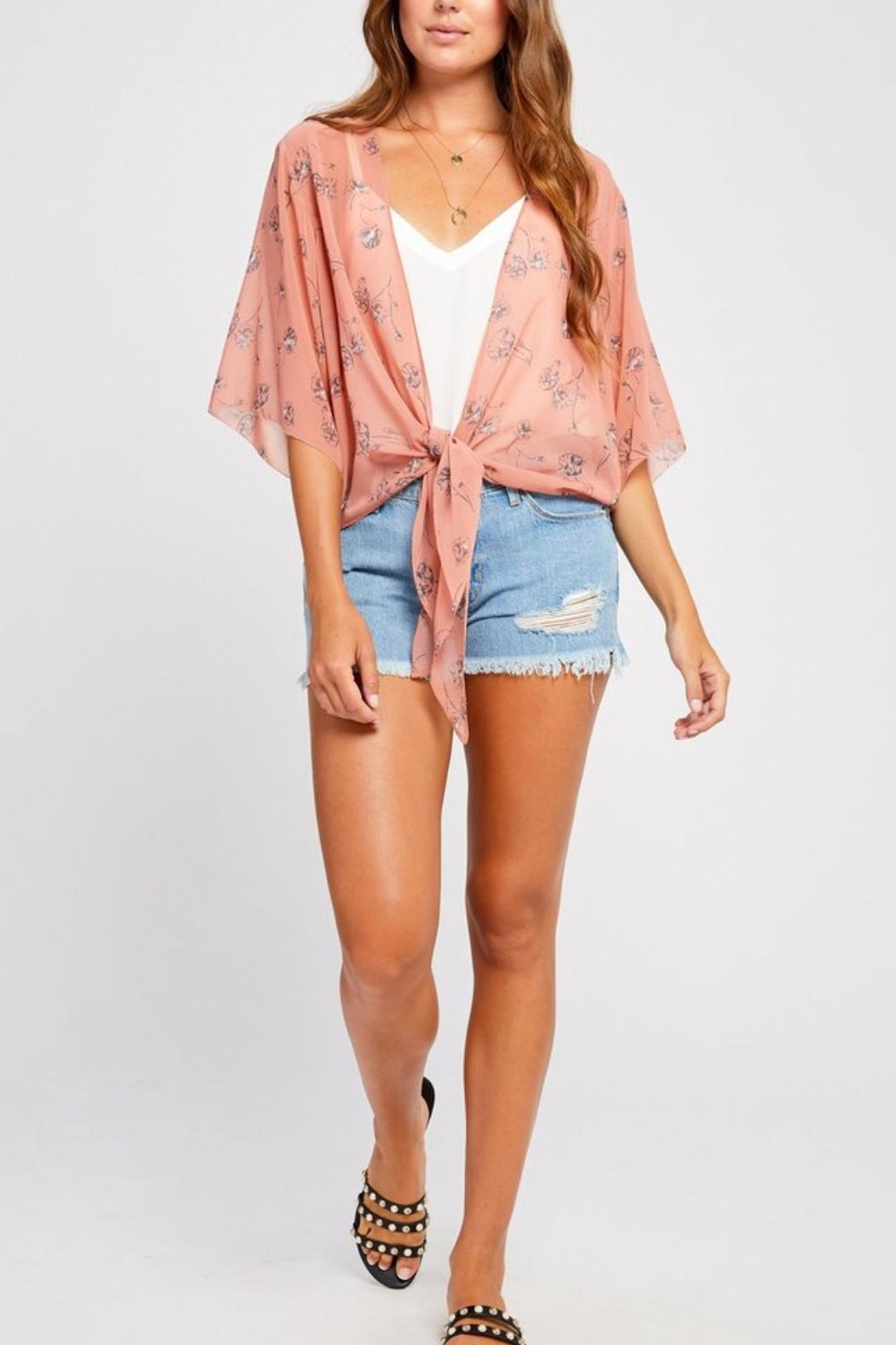 Gentle Fawn Sheer Floral Overpiece - Main Image